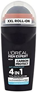 L'Oréal Paris Men Expert Carbon Protect 48 Hour Roll-On 50ml (Pack of 4)
