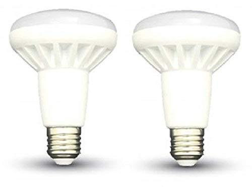 Bombillas LED reflectoras R80 - Juego de 2 - E27 / Tornillo Edison - 10 W - Blanco frío 6000 K / 800 Lumen / NO Regulable / 20.000 horas Vida / 220–240 V / 120 ° Ángulo de haz / SKU: 4341 X 2