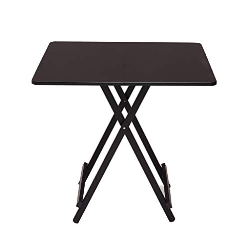 JIAYIBAO Black Dining Table 4-Seater Office Dining Room Home Furniture Wooden Modern Kitchen Folding Table (Table Only)