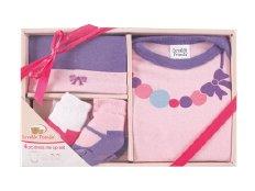 Luvable Friends 07148R Baby Bekleidungs Set 4-teilig rosa Größe: 0-3 Monate
