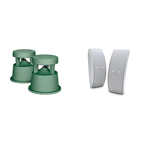 Bose FreeSpace 51 Equipo de Altavoces ambientales de 100 W, Verde + Altavoces ambientales 151, Color Blanco