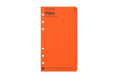 バイブルサイズ PLOTTER/プロッター Plain(無地)メモパッド システム手帳リフィル 77