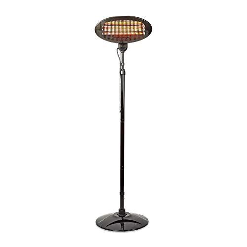 NEDIS HTPA120EBK Patio Heater | 2000 W | 3 Heat Settings | Fall over protection