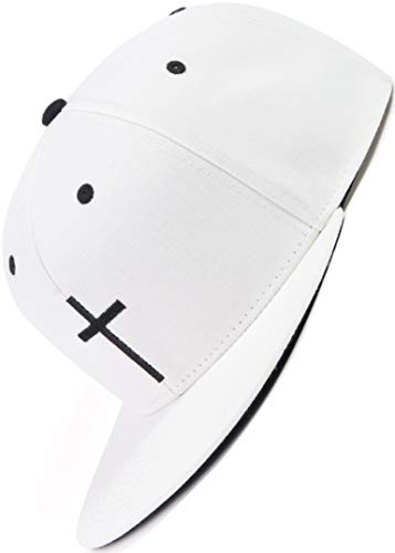 Bexxwell Snapback Cap weiß mit Kreuz (optimale Passform, Kappe, White, Cross, Unisex)