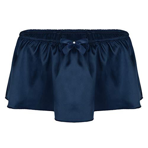 CHICTRY G-String Bóxer Hombre Tanga Pantalones Cortos Sexy Ropa Interior Atractiva Calzoncillos Lencería Erotica Hombre Azul Marino Medium