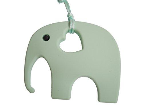 Elefant Beißring für Babys & Zahnungshilfe beim Zahnen, BPA Frei – perfektes Baby Spielzeug & Geschenk – in 12 Farben erhältlich (Minze)