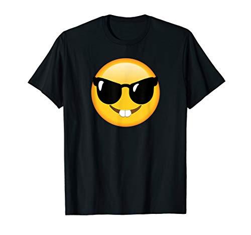 Emoticon, lustig, Gesicht, Nerd-Brille, glückliches Gesicht T-Shirt