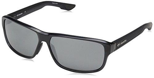 Columbia Gafas de sol rectangulares Ridgestone de los hombres, Crystal Shark, 62 mm