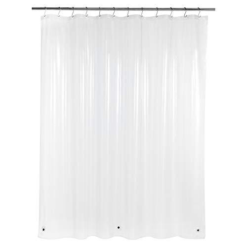 Amazon Basics - Cortina de ducha de PEVA ligera, transparente, 183 x 200 cm