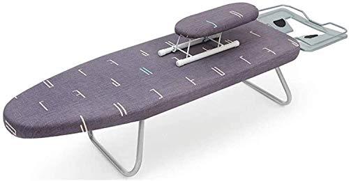 Decoración de muebles Tablero de hierro eléctrico plegable Escritorio del dormitorio Alargar la tabla de planchar 4 colores Mesa de planchar de metal Portátil Fácil de almacenar Suministros de lava