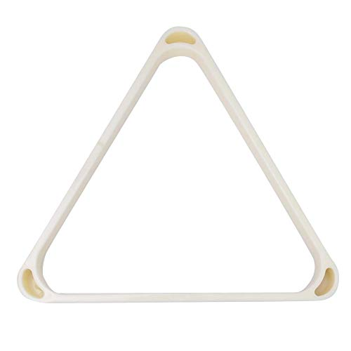 Alomejor Marco Triangular de Billar Bolas Profesionales de Plástico ABS Bolas de Billar con Bordes Redondeados Reforzados Accesorios(52.5MM)