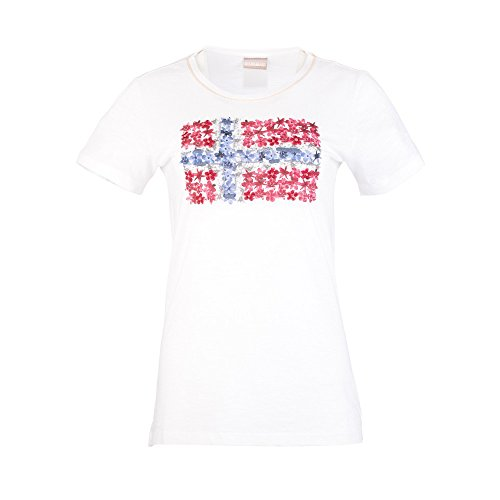 NAPAPIJRI Solola T-Shirt, Bianco (Bright White), Small Donna