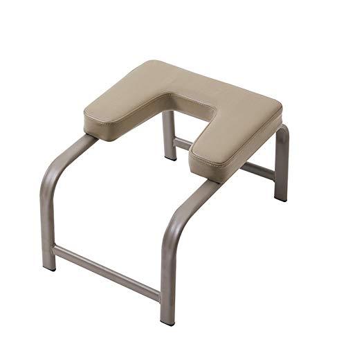 Hard Disk Panca per la Testa Yoga, Comoda Sedia da Yoga per Uso Domestico Sgabello ad inversione con Cuscinetti in PU per Esercizi di Fitness a casa (Marrone, capacità Massima di Peso 200 kg)