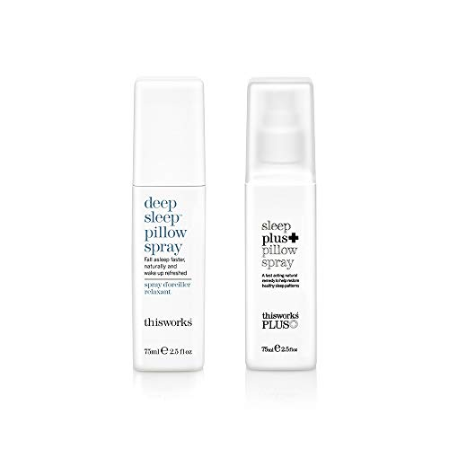 thisworks Sleeping Partners Set: Deep Sleep Pillow Spray 75ml & Sleep Plus Pillow Spray 75ml
