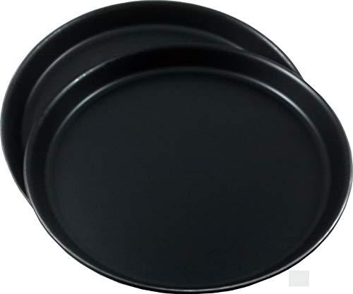 TURK Set aus 2 Profi Pizzablechen, hochwertiges Blaublech, D = je 28 cm