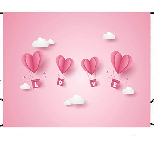 Love Heart Hot Air Balloon Backdrops Wall Photography Background Celebration Event Banner Photo Studio Booth Props Background