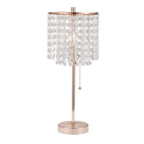 SH Lighting Crystal Inspired Table Desk Lamp - Features Convenient Pull Chain - 19' Tall...
