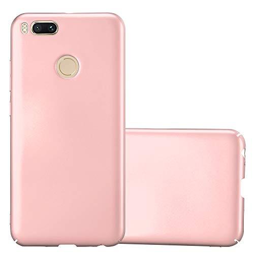 Cadorabo Funda para Xiaomi Mi A1 / 5X en Metal Oro Rosa - Cubierta Protección de Plástico Duro Super Delgada e Inflexible con Antichoque - Case Cover Carcasa Protectora Ligera