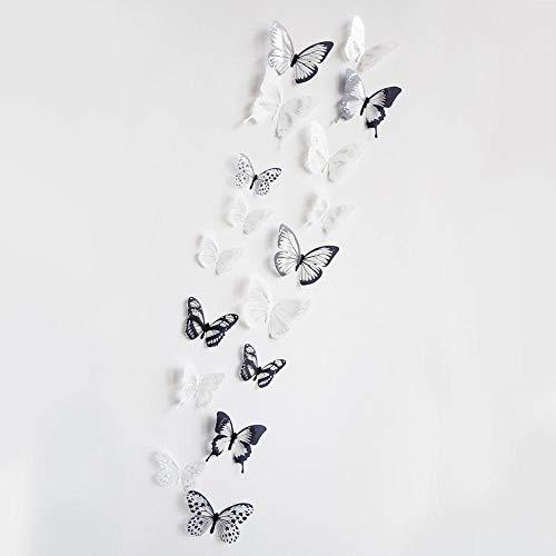 SPFOZ Haus Dekoration 18pcs / Lot Effekt 3D Kristall Schmetterlinge Wandaufkleber Schöner Schmetterling for Kinderzimmer Wandaufkleber Hauptdekoration an der Wand (Color : A)