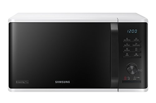 Samsung mg23K3515aw/ET Mikrowelle mit Grill 23Liter, 1100+800 Watt