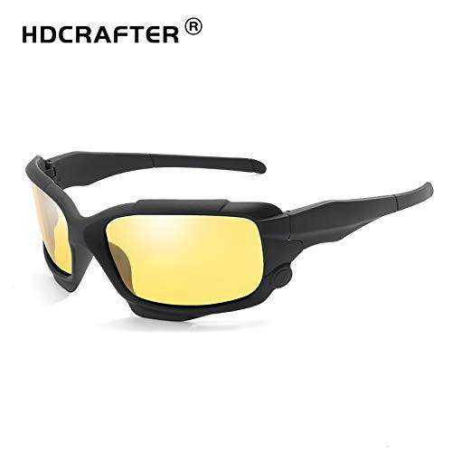 M.J.ZUR Polarisierte Sport-Sonnenbrille Leichter Rahmen for Männer und Frauen beim Fahren Laufen Baseball Golf Casual Sports (Color : Gelb, Size : Kostenlos)