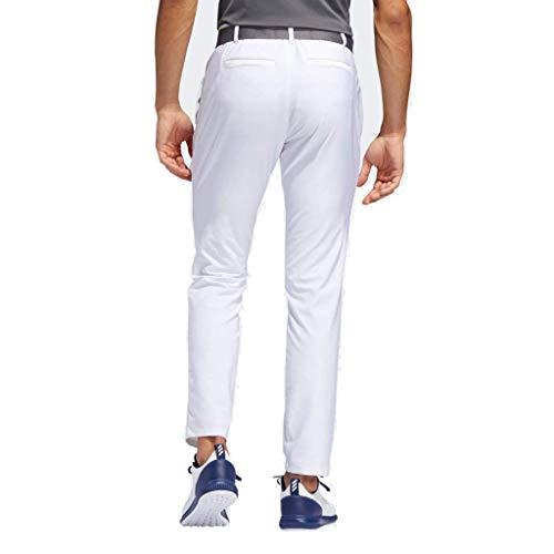 adidas Golf Mens Ultimate 365 3-Stripes Tapered Stretch Golf Trousers White 40×32