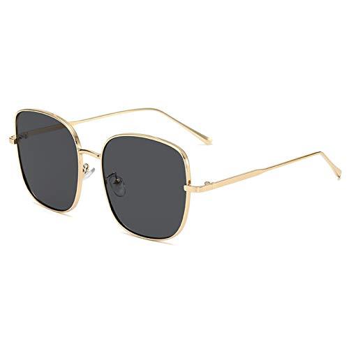 SXRAI Gafas de Sol cuadradas Mujer Negro Rosa Gafas de Sol Gafas de Mujer de Gran tamaño,C4
