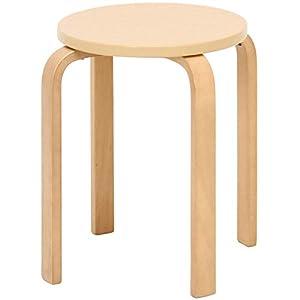 木製 丸椅子 曲げ脚椅子6脚セット サイズ40×40×44cm カラー:ナチュラル(15003148-2) 曲げ木チェア スタッキングチェア 積み重ね可能)
