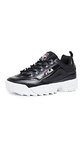 Fila - Zapatillas Disruptor para hombre, Multicolor (Negro/Blanco/Rojo), 43.5 EU
