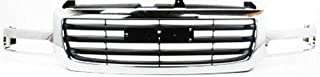 Crash Parts Plus Chrome Shell w/ Black Insert Grille Assembly for GMC Sierra GM1200475