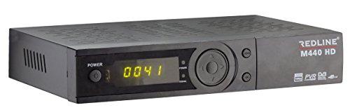 Redline M440 HD Plus Full HD satelliet FTA IPTV YouTube USB-ontvanger (HDTV, DVB-S2, HDMI, SCART, USB 2.0, Full HD 1080p) [voorgeprogrammeerd] - zwart, ohne WLAN