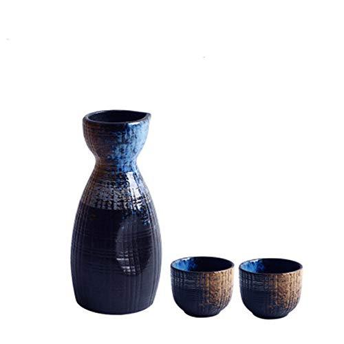 Juego de cerámica de banda, jarra de vino para el hogar, copa de vino, dispensador de copas de vino, vino blanco y olla de vino amarillo (color: 4)