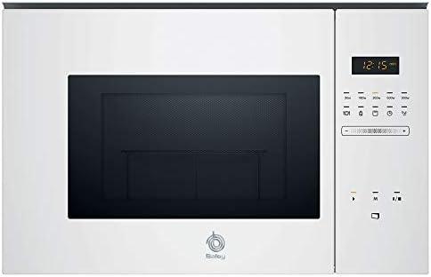 Balay 3CG5175B0 Microondas integrable, Serie cristal, 25 litros de capacidad, con grill, color blanco
