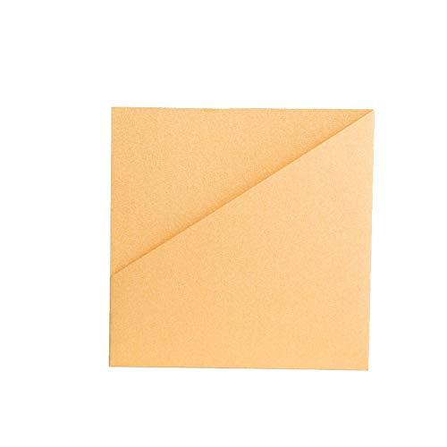 Mosterd Geel Parelmoer Portemonnee Nodigt 144mmx144mm uit Pocketfold Nodigt LTD uit Yellow, Mustard