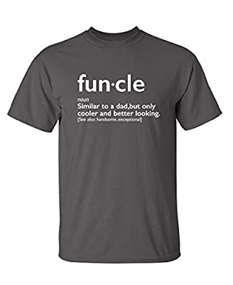 Funcle Gift for Uncle Graphic Novelty Sarcastic Funny T Shirt XL Charcoal from