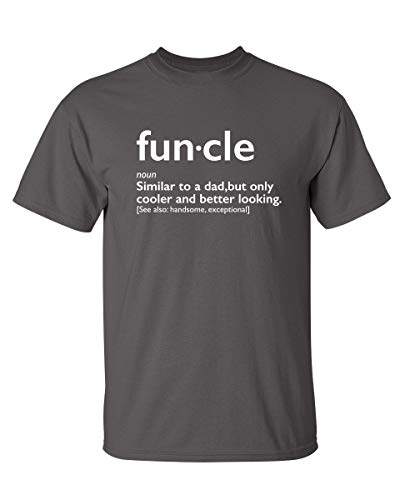 Funcle Gift for Uncle Graphic Novelty Sarcastic Funny T Shirt M Charcoal