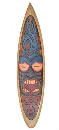 Interlifestyle Decoración Tabla de Surf Im Tiki Tribal Diseño para Colgar Letrero de Madera 100cm