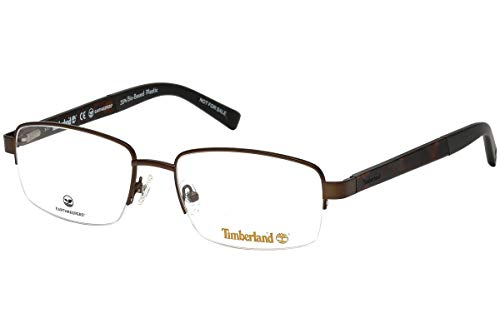 Timberland Men Eyeglasses Rectangular TB1588-049 Matte Dark Brown/Demo