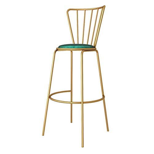 Dining Chairs, Velvet Accent Chair, Upholstered Barstools, Living Room Modern Leisure Chairs Style Gold Metal Legs, Seat Height 25.5inch/29.5inch-Green