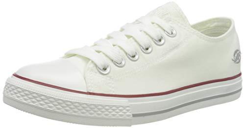 Dockers by Gerli Low-Top Sneakers, White (Weiss 500), 8.5