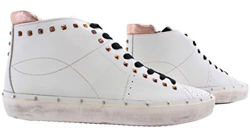 Rebecca Minkoff Chaussure Femme Sneakers 0HMDNA01 Michell Studs Nappa White High - Blanc, Cuir, 40, 7, 10