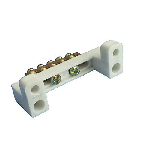 Dhmm123 Conector de Cable Bloque de terminales de la línea Cero Tierra Cable de 5 bits Fila de Cobre de Puesta a Tierra del cableado Bar 7 * 11 5 Agujeros 5pcs Terminales