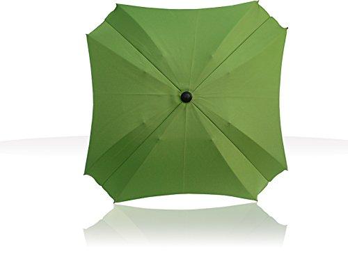 Sonnenschirm für Kinderwagen, mit flexiblem Befestigungsarm, Sonnenschirm mit UV-Schutz, Durchmesser 70 cm, (Green)