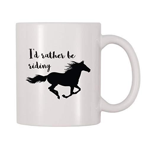 Maureen52Dorothy Ik zou liever Riding Mok, Paard, Pony, Paarden, Paardrijden, Stabiel, Animal Themed Cup, Gift Voor Paardenrenners, Paardenliefhebbers 11Oz