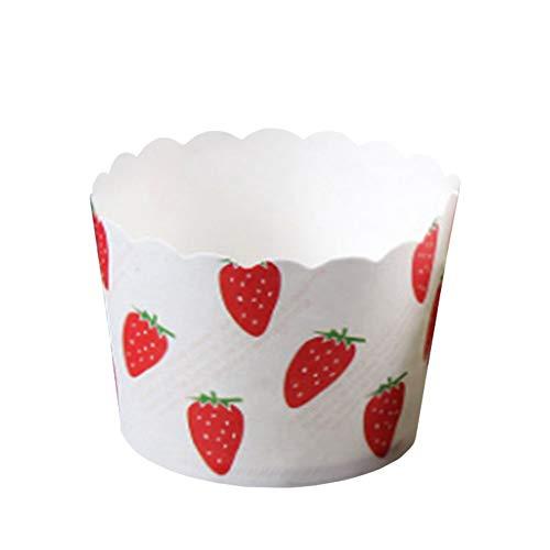 Beiersi Caissettes a Cupcake 20pcs Cuisson en Papier Caissettes Muffin Moule pour Gâteau Muffins Dessert Moules (Fraise)