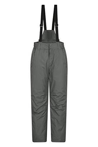Mountain Warehouse Dusk Skihose für Herren - Winterhose mit Zwei Taschen, Wasserfeste Herrenhose mit Elastikbund - Ideal zum Snowboarden Dunkelgrau Large