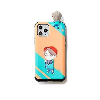 [BTS Merchandise for Girls] BTS Character Figure Slide Bumper Samsung Galaxy iPhone Case Edgeline  12 or 12 pro Jimin