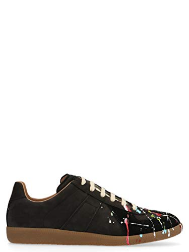 Maison Margiela Luxury Fashion Uomo S57WS0240P1892963 Nero Pelle Sneakers | Stagione Permanente