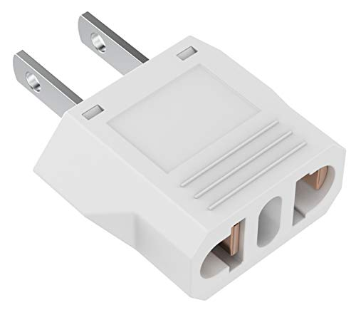 European to US Plug Adapter, Australia China Italy Switzerland Europe To US Plug Adapter, Best Simple Easy To Use Fireproof Safe US Travel Adapter, EU To US Plug Adapter, Outlet Adapter Europe To USA.