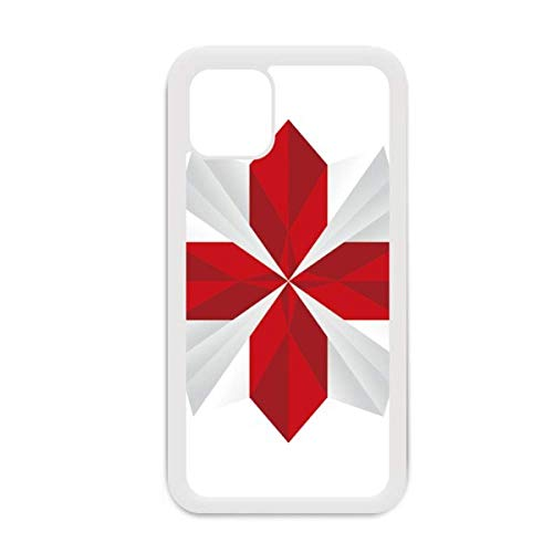 Resumen Navidad Origami flor patrón para iPhone 12 Pro Max cubierta para Apple Mini Mobile Case Shell blanco